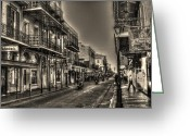 Bourbon Greeting Cards - French Quarter Ride Greeting Card by Greg and Chrystal Mimbs