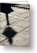 Kg Greeting Cards - French Quarter Shadow Greeting Card by KG Thienemann