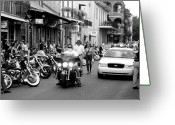 Cop Cars Greeting Cards - French Quarter Street Scene Greeting Card by Kate Purdy