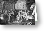 Head Of State Greeting Cards - French Royal Academy Of Sciences, 1666 Greeting Card by
