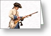Rangers Greeting Cards - French Soldier Reloading Musket Greeting Card by Randy Steele
