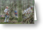 Encampment Greeting Cards - French Soldiers Storming the Works Greeting Card by Randy Steele