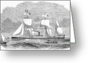 Senegal Greeting Cards - French Steamship, 1872 Greeting Card by Granger