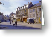 Staley Art Greeting Cards - French Village Greeting Card by Chuck Staley