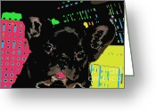 French Bulldog Prints Greeting Cards - French Warhol Greeting Card by Tap On Photo