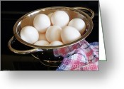 Kitchen Photos Greeting Cards - Fresh Eggs Greeting Card by Methune Hively