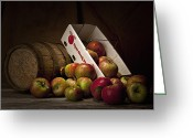 Fresh Picked Fruit Greeting Cards - Fresh From the Orchard I Greeting Card by Tom Mc Nemar