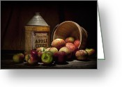 Fresh Picked Fruit Greeting Cards - Fresh From the Orchard II Greeting Card by Tom Mc Nemar