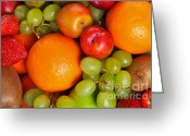 Selection Greeting Cards - Fresh fruit  Greeting Card by Richard Thomas