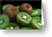 Kiwi Greeting Cards - Fresh Kiwi Greeting Card by Terence Davis