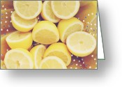 Kitchen Photos Greeting Cards - Fresh Lemons Greeting Card by Amy Tyler