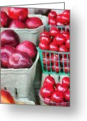 Peaches Greeting Cards - Fresh Market Fruit Greeting Card by Jeff Kolker