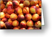 Fruit Basket Greeting Cards - Fresh Nectarines - 5D17815 Greeting Card by Wingsdomain Art and Photography