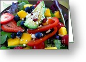 Mango Digital Art Greeting Cards - Fresh Salad Greeting Card by Terri Thompson
