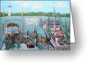 Louisiana Greeting Cards - Fresh Seafood  Greeting Card by JoAnn Wheeler