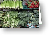 Lettuce Green Greeting Cards - Fresh Vegetables - 5D17911 Greeting Card by Wingsdomain Art and Photography