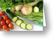 Runner Photo Greeting Cards - Fresh Vegetables Greeting Card by Carlos Caetano