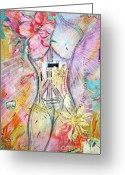 Graffiti Art For The Home Greeting Cards - Frida - a quest for Peace Greeting Card by Anahi DeCanio