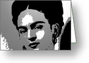 Adam Gabriel Winnie Greeting Cards - Frida Kahlo Greeting Card by Adam Winnie