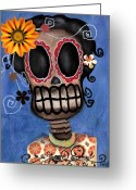 Abril Greeting Cards - Frida Muerta Greeting Card by  Abril Andrade Griffith