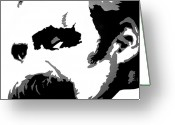 Adam Gabriel Winnie Greeting Cards - Friedrich Nietzsche  Greeting Card by Adam Winnie