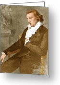 Weimar Greeting Cards - Friedrich Schiller, German Poet Greeting Card by Photo Researchers, Inc.