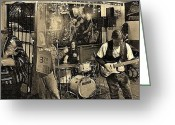 Live Music Greeting Cards - Friends Greeting Card by Chris Berry