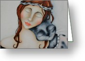 Deb Harvey Greeting Cards - Friends Greeting Card by Deb Harvey