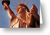 Bill Cannon Mixed Media Greeting Cards - Fringe Lady Liberty Greeting Card by Bill Cannon