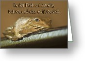 Brown Frog Greeting Cards - Frog Prince Greeting Card by Carolyn Marshall