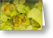 Conservationists Greeting Cards - Frogpond Greeting Card by Georgia Annwell