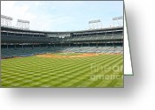 Wrigley Field Greeting Cards - From Center Greeting Card by David Bearden