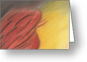 Fire Pastels Greeting Cards - From Darkness to Light Greeting Card by Vonna Beam