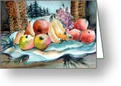 Snowscape Greeting Cards - From My Window Greeting Card by Mindy Newman