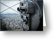 Coin Greeting Cards - From Observation Deck. Greeting Card by N. Umnajwannaphan