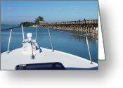 Boca Grande Prints Greeting Cards - From the Boat Greeting Card by Geralyn Palmer