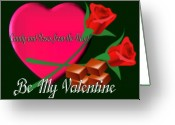 Pencil Drawing Digital Art Greeting Cards - From the Heart for Valentine Greeting Card by Garry Staranchuk