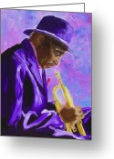 Sax Greeting Cards - From The Soul Greeting Card by Michael Lee