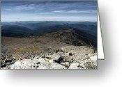 Gray Sky Greeting Cards - From the Summit Greeting Card by Ross Powell