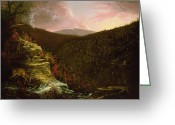 Cole Painting Greeting Cards - From the Top of Kaaterskill Falls Greeting Card by Thomas Cole