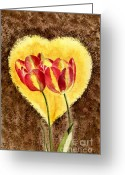 Sympathy Painting Greeting Cards - From Tulip With Love Greeting Card by Melly Terpening