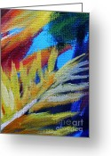 Bay Islands Painting Greeting Cards - Fronds Greeting Card by John Clark