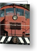 Train Photo Greeting Cards - Front End Greeting Card by Dan Holm
