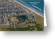 Ocean Front Greeting Cards - Front Line Greeting Card by East Coast Barrier Islands Betsy A Cutler