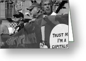 Occupy Greeting Cards - Front Lines Greeting Card by Sonya Anthony