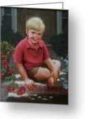 Janet Mcgrath Greeting Cards - Front Porch Portrait Greeting Card by Janet McGrath