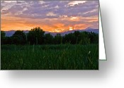 Brian Kerls Greeting Cards - Front Range Sunset Greeting Card by Brian Kerls