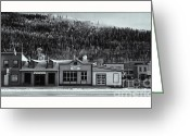 Yukon Greeting Cards - Front Street Greeting Card by Priska Wettstein