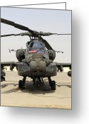 Agm-114 Greeting Cards - Front View Of An Ah-64d Apache Longbow Greeting Card by Stocktrek Images
