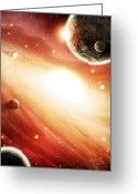 Science Fiction Digital Art Greeting Cards - Frontier Greeting Card by Bill Fleming